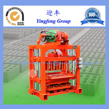 QTJ4-40 auto used brick making machine small scale industries machine