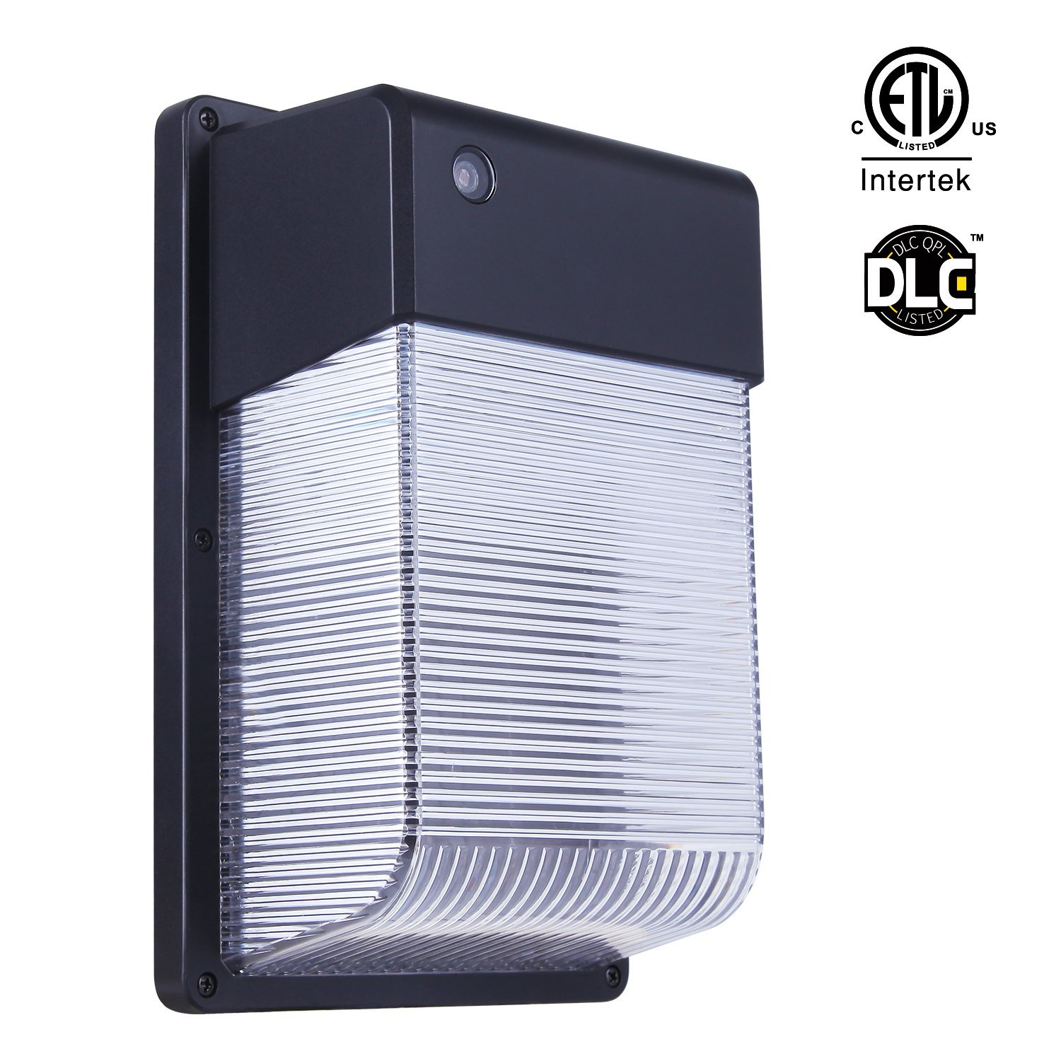 JJC LED Wall Mount Light, Wall Pack with Sensor 16W 3000K Warm White 1500lm,(Dusk-to-Dawn Photocell,Waterproof IP65), 150W Equivalent.100-277Vac,ETL Certified, Wall Light Outdoor for Garage,Yard