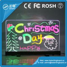 2015 China hot products best transparent led neon writing display aluminium alloy frame light menu display 18 flashing