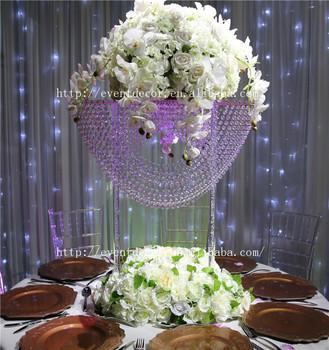 Vente Chaude Vague Forme Cristal Lustre Centres De Table Pour Les Mariages Buy Centres De Mariage Cristaux Suspendus De Mariage Maitresses Table Top