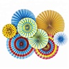 OEM Firework Theme Party Fans, Vivid Color New Year 2019 Paper Decorations Set, Funny Birthday Party Supplies