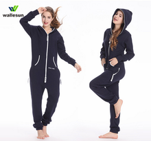Custom ผู้ใหญ่ onesie 100 cotton jumpsuits กับ hood