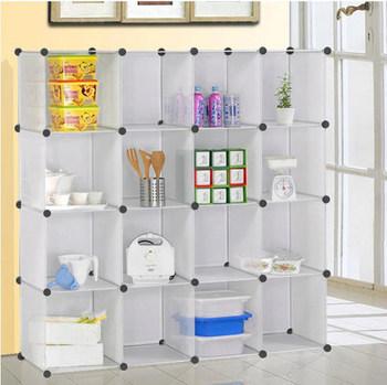 in elkaar grijpende diy moderne hoek doorzichtige plastic boekenkast eenvoudig te installeren zonder gereedschap