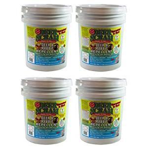 Deer Scram 1025 Granular 25-Pound Organic Deer, Rabbit Repellent, 4-Pack