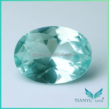 Man Made Diamonds Oval Cut Synthetic Spinel Blue Green Spinel Gemstone