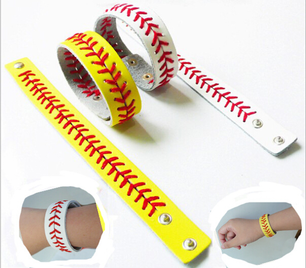 Best selling new style fashion sports volleyball faux leather bracelet