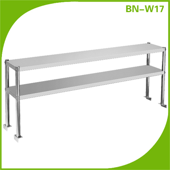 Stainless Steel Worktable Overshelf/ Over Counter Shelving Unit