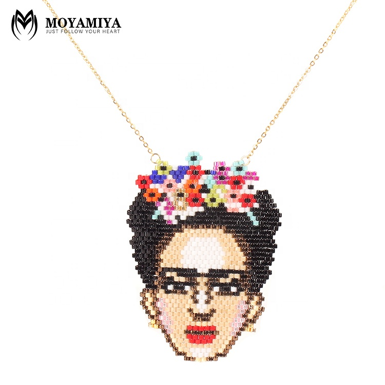 MI-N180001cheap price moyamiya handmade woven jewelry stainless steel chain pendant necklace, As picture or customized