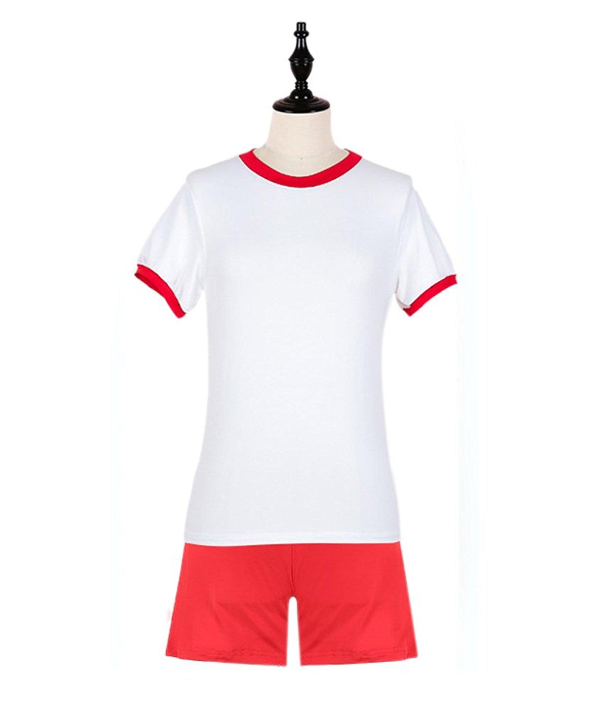 e2f80b8e9df Get Quotations · ROLECOS Girls Japanese School Uniform Gym Suits Students  Sportwear Cosplay Uniforms