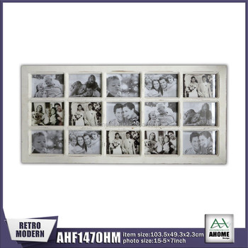 15-pictures 7x5 Distressed White Wooden Collage Frame - Buy Collage ...