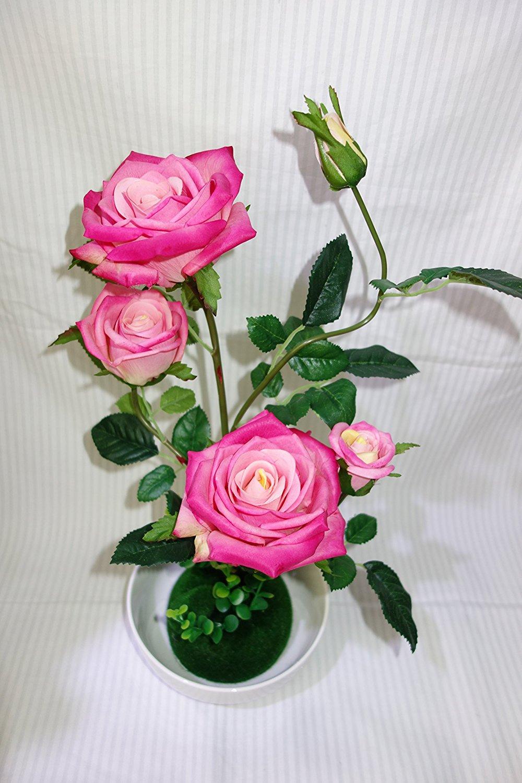 Buy elegant realistic look artificial flower shabby chic pink rose elegant realistic look artificial flower shabby chic pink rose izmirmasajfo