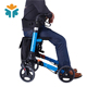 Folding Adjustable Forearm Old People Aluminum Brake Rollator Walker