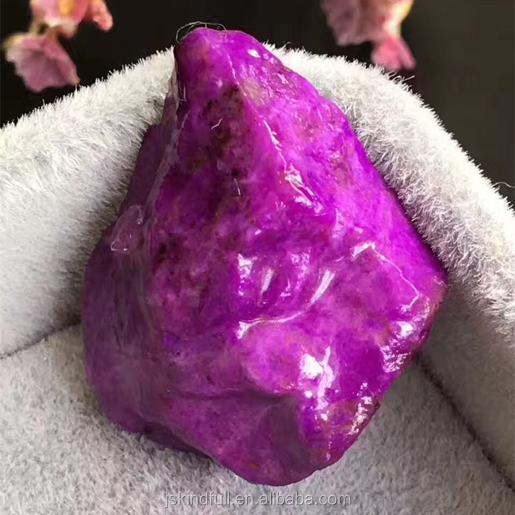 Wholesale Natural South Africa Sugilite Crystal Raw Tumbled Stone South Africa Sugilite Rough Gemstone For Raw material Sale