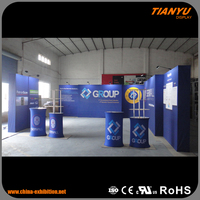 Low Cost Original Brand Customized Exihibition Pop Up Stand Construction For Advertising