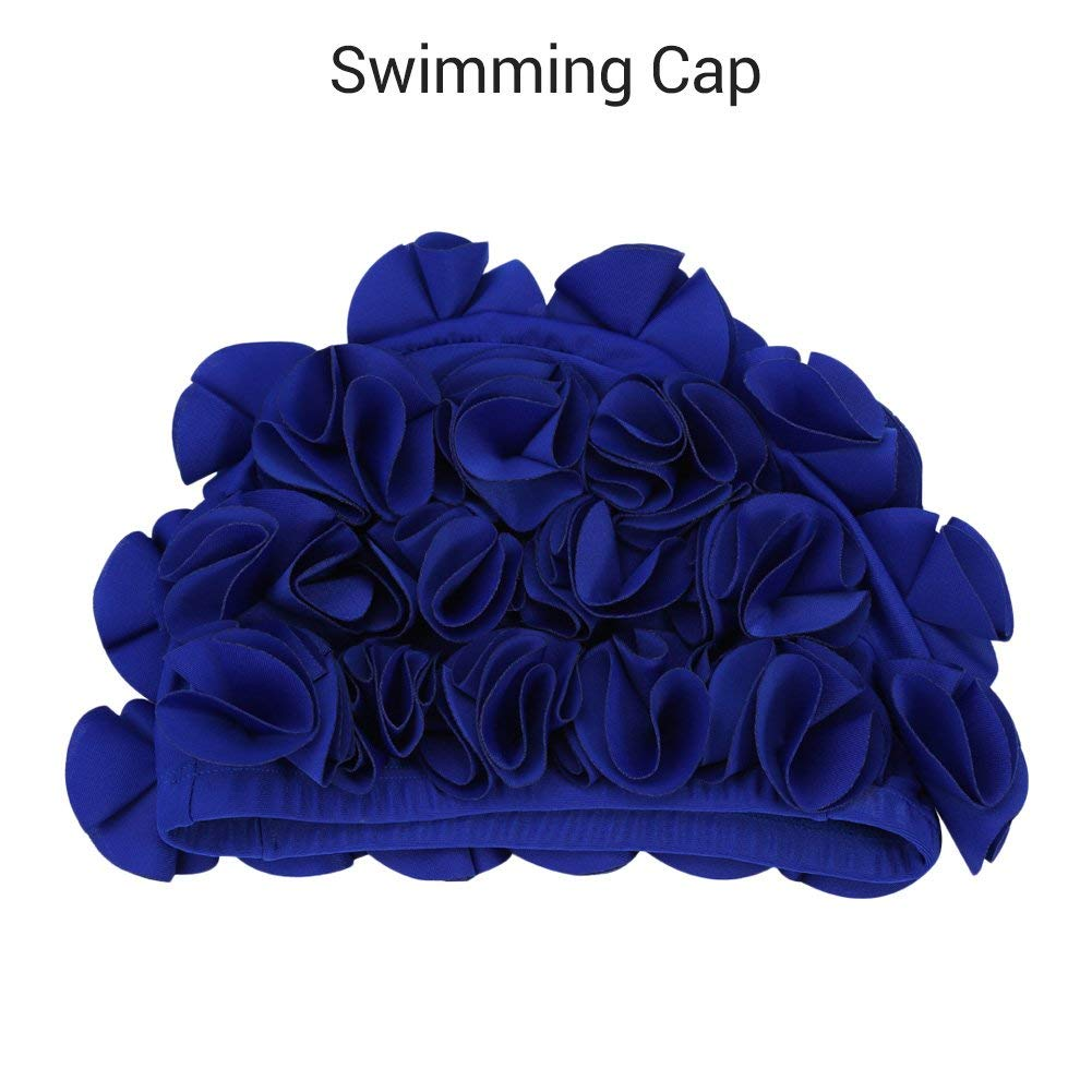 41c2981a354 Get Quotations · Womens Swim Cap, Floral Swim Cap for Womens, Vintage Style,  Swimming/Bathing