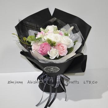 Roses Artificielles à La Main Fleurs De Savon Romantique Artificielle Bouquet De Fleurs De Savon Pour Anniversaire Cadeau De Mariage Buy Bouquet De