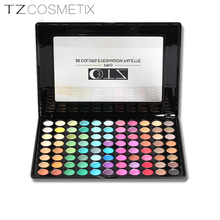 Eyeshadow palette TZ cosmetics brand 88 colors matt mineral eye makeup