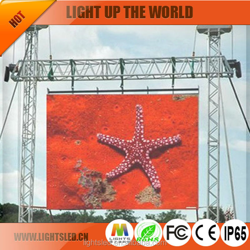 P6 outdoor rental led display advertising , outdoor night club jumbo led screen 4m x 3m