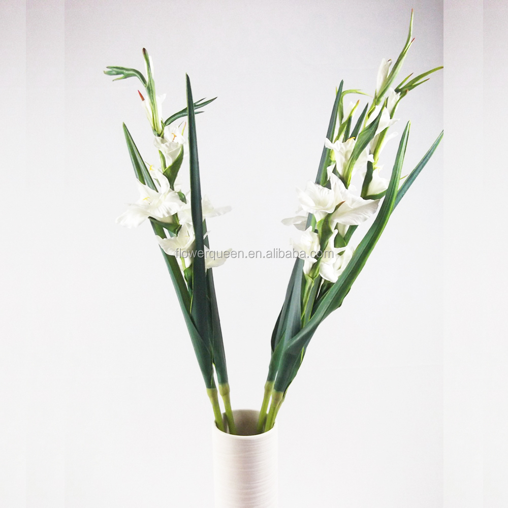 Pu artificial yellow gladiolus flowers fake gladiolus flowers with pu artificial yellow gladiolus flowers fake gladiolus flowers with best price for wedding decoration fresh touch decor flowers buy pu artificial yellow mightylinksfo