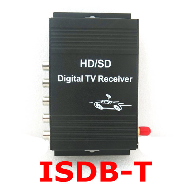 ISDB-T Car Digital TV receiver 190km/h Car TV Tuner 4 video output  For Brazil chile Argentina Peru South America Japan