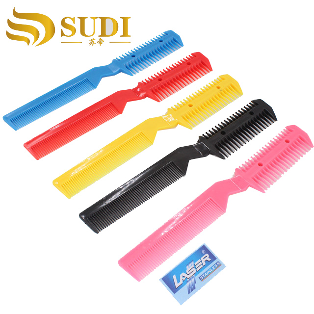 Hot sale factory direct price Hair Extension Thinning Comb With Blade Razors Personalized Hair Razors Comb
