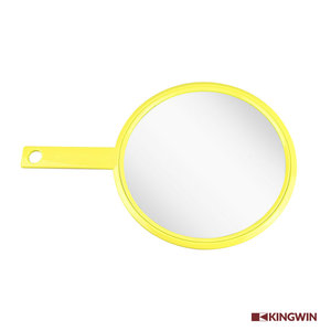 small personalized portable Yellow Professional small hair Salon Hand held Mirror for barber