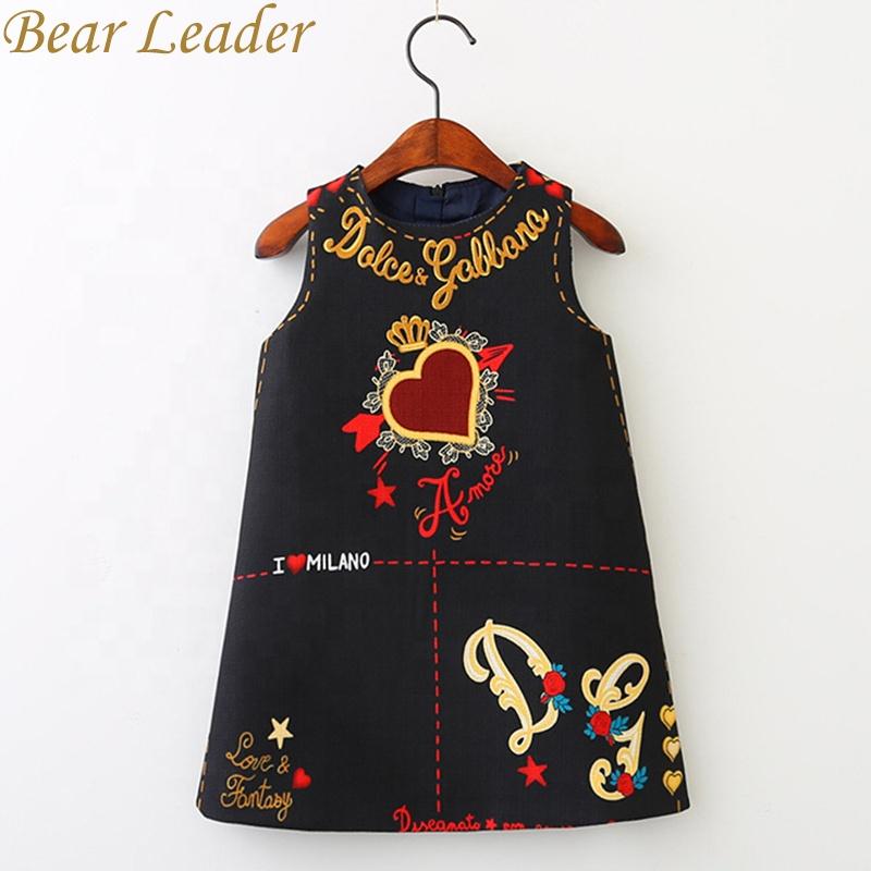European And America Style Cut Loves&Stars Print Baby Girls Dress фото