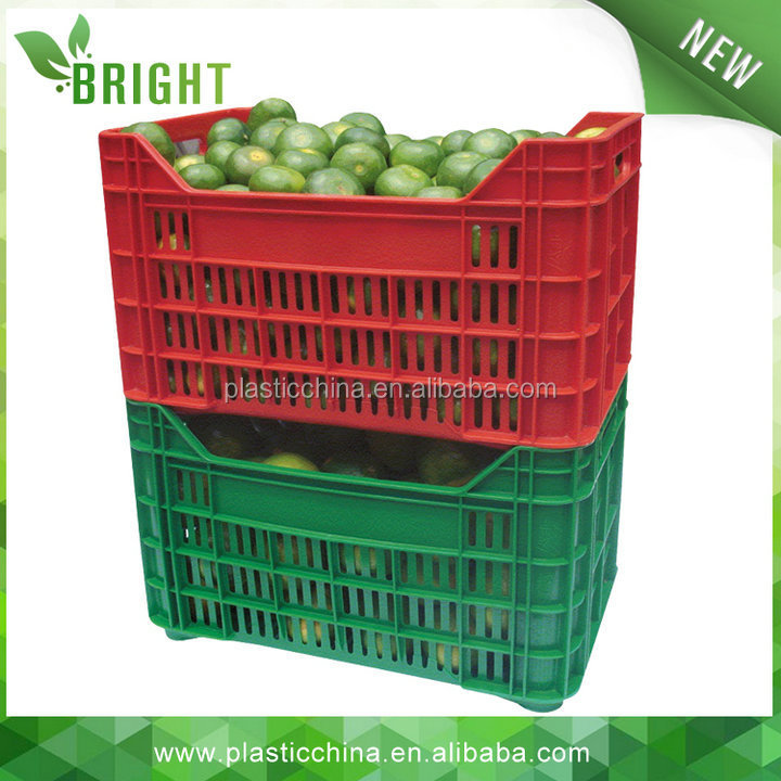 Heavy Duty Ventilated Plastic Crate For Vegetables And Food