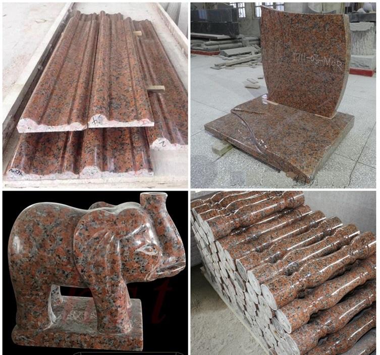 Granit toptan açık merdiven adımları lowes g562 akçaağaç yaprağı dokunsal granit