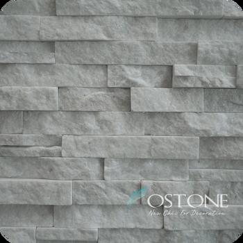 Natural White Quartz Wandverkleidung Stein Gunstige Innen