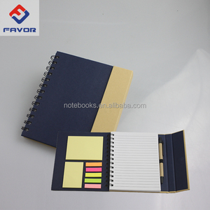 promotional gifts 2018 recycled eco friendly notebook with pen inside