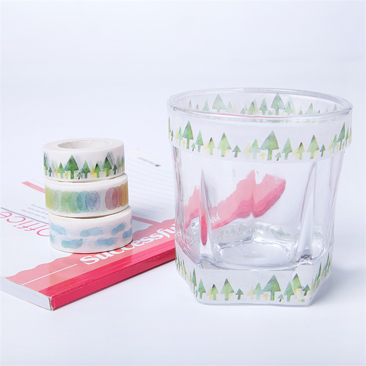 Christmas Design Gift Decoration Ink Printing Masking Paper Washi Tape For Holiday Gift