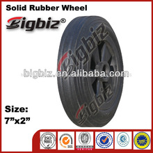 High quality solid rubber wheel, wholesale rubber wheels 7 inch