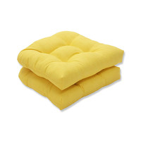Outdoor Fresco Yellow Wicker Seat Cushion, Set of 2,Cushion Pillow Case