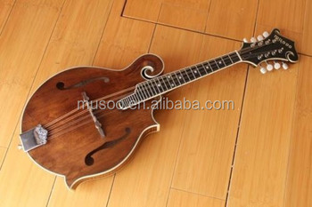 Musoo Brand Acoustic Mandolin Carved Solid Flame Spruce And Neck With Case  In Antique - Buy Acoustic Mandolin Guitar,Antique Mandolin,Acoustic Gutiar