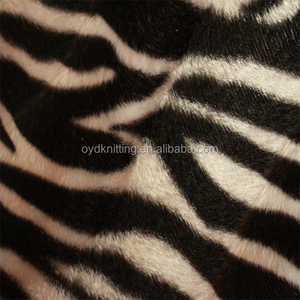 Zebra-Stripe Leopard Printing Velboa Fabric Short Hair Printing Velboa Fabric for Shoes/Mattress Cover/Toy