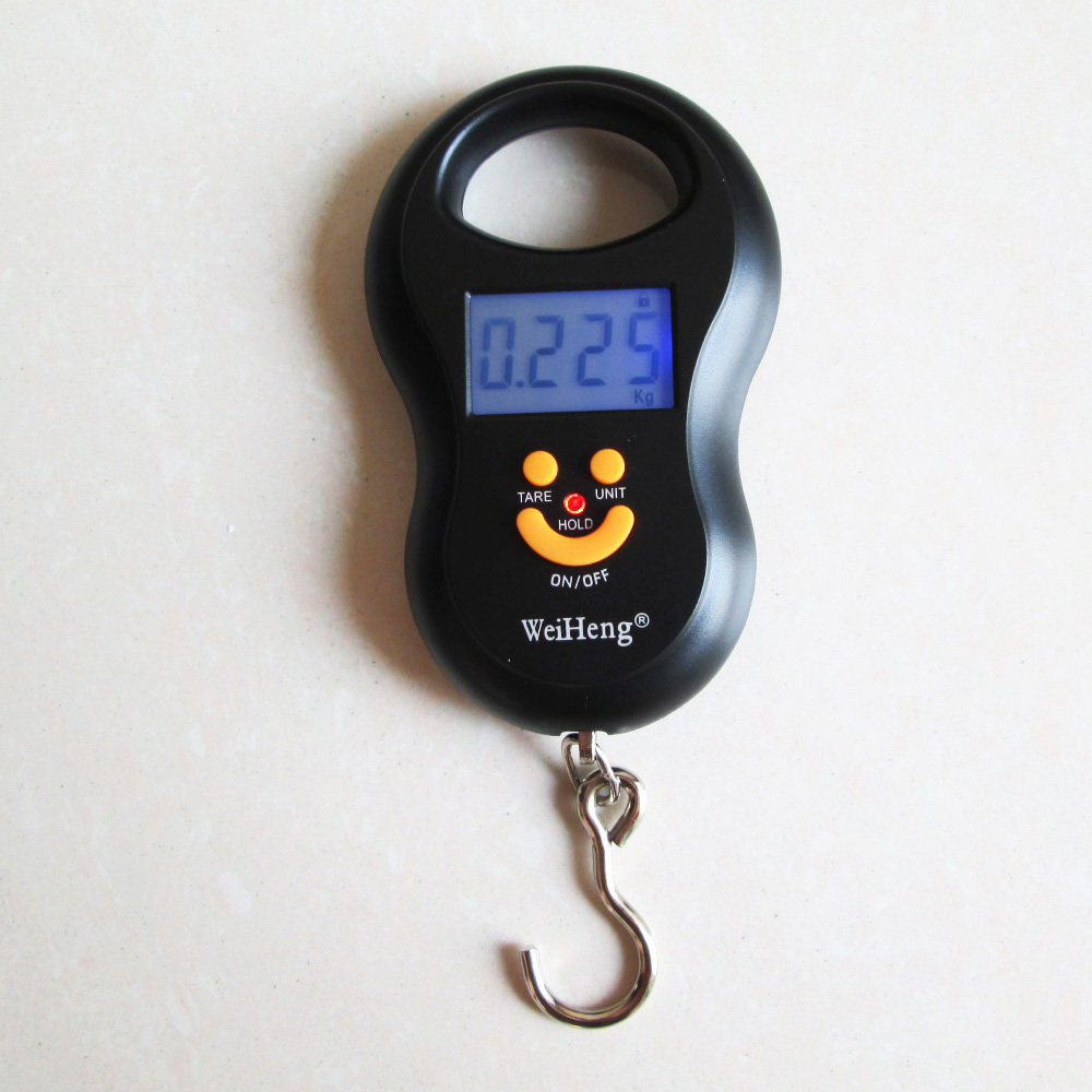 50kg/10g Portable Digital Luggage/Fishing Hook Hanging Electronic Scale