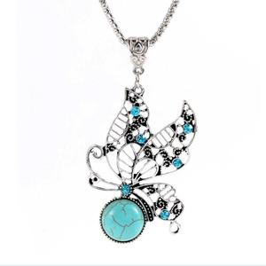 2018 Fashion vintage butterfly indian women bridal jewelry sets tortoise jewelry Necklace suit