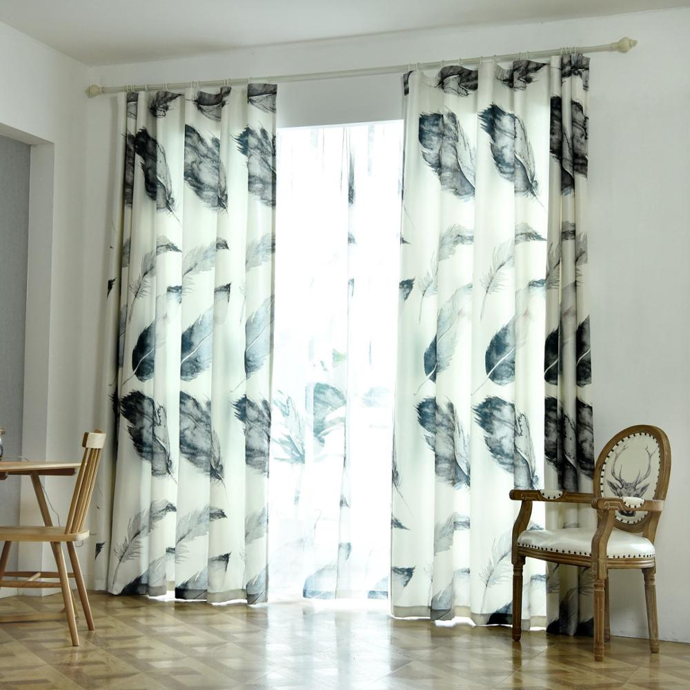 Modern Nordic Home Decor Curtains For Living Room Bedroom Balcony Half Shade Leaf Curtain String Curtain Cortinas Buy Tropical Green Leaves Tree Simple Bedroom Curtains For Window Modern Curtains For Living