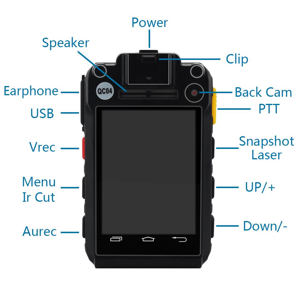W8 4G водонепроницаемый профессиональный Охранник полиции тела Изношенные камеры с sim-картой