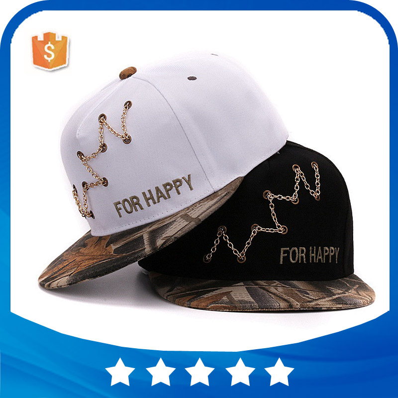Newest camo embroidery flat bill mens fashion custom 5 panel snapback cap/hat