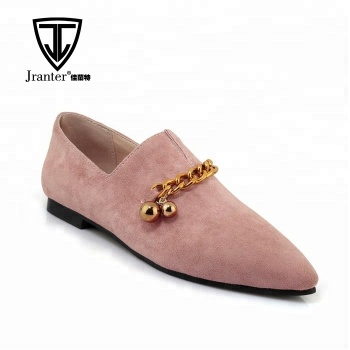 Women's Flats Heeled Pointed-toe Suede