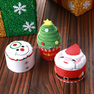 2018 Towel Gift Idea Christmas Cake Towel Set