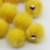 16MM Yellow Faux Fur Pom Pom Ball Cell Phone Purse Hand Bag Key Charm DIY Jewelry Accessories Findings