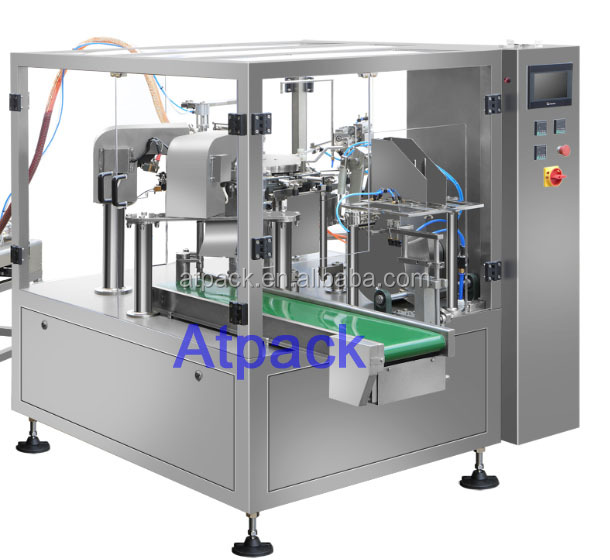 Atpack high-accuracy automatic Professional sea salt hair care shampoo OEM filling and sealing machine with CE GMP