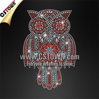 Beautiful Owl Custom Bling Rhinestone Embellishment Iron on