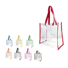 Custom Stadium Wholesale PVC Transparent Clear Tote shopping Bag