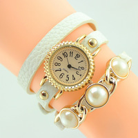 latest design china supplier bracelet pearl watch company
