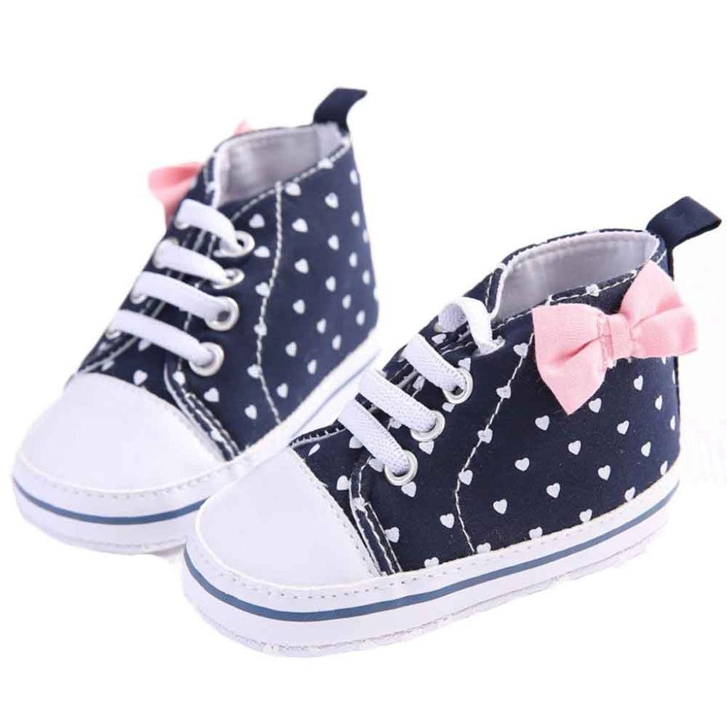 Baby Canvas Shoes, Iusun Newborn Girls Soft Sole Anti-slip Sneaker Toddler Shoes