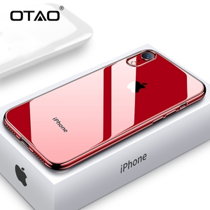 OTAO Ultra Thin Soft Phone Case For iphone XS MAX XR X 8 7 6 6s Plus Plating Transparent Mobile Back Cover